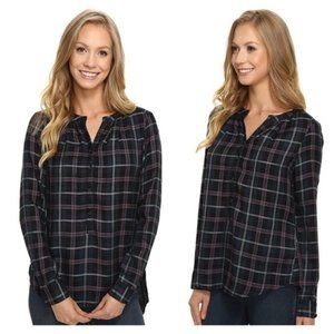 Lucky Brand Girlfriend Plaid Shirt Green Multi S